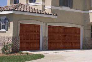 14 best images about faux wood garage doors fiberglass for Garage doors of houston
