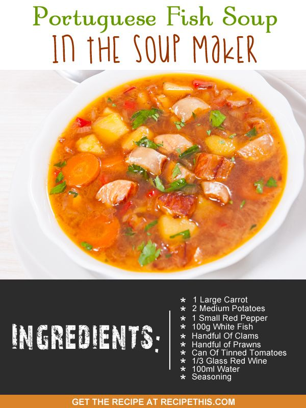 1000 images about soup maker recipes more on pinterest for Creamy fish stew