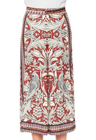 fd0a8c9239 Calça Colcci Pantacourt Estampada Vermelha Laranja Bege - Compre Agora