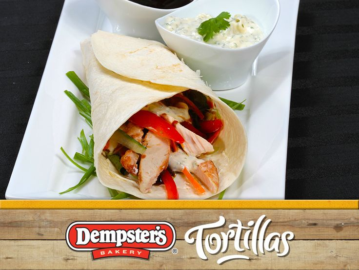 Make a great first impression with an enticing and delicious Hoison Chicken Wrap with Cilantro Lime Dressing. @Dempster's® Bakery #WrapItUp
