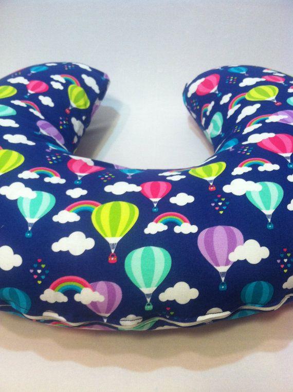 Boppy Cover Hot Air Balloons Rainbows Hearts Nursing