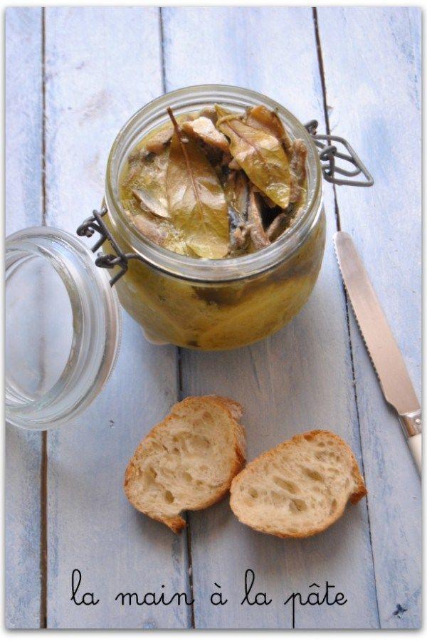 Sardines à l'huile d'olive et au citron - La main à la pâte