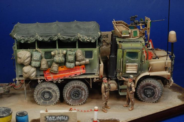 """US Mk.23 with M.A.S. Armour Kit - Afghanistan 2008"" Kit Trumpeter, Black Dog, MMK in 1/35 by modeler Alberto Bertoni. Master Miniatures"