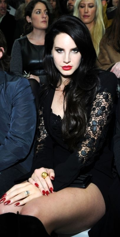 Lana Del Rey pulls of the pale with dark hair look