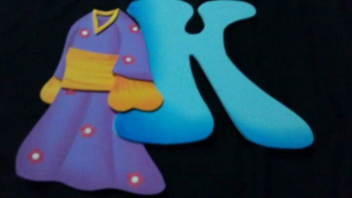 Kimono, traje japones, la k del abc