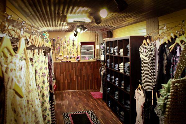 cool inside of a vintage camper/van for mobile boutique