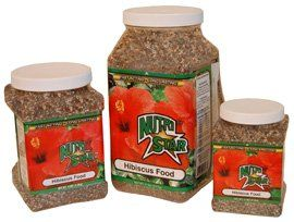 Nutri Star Hibiscus Food 2 lb 10-4-12 by Nelson. $16.99. Turn heads with huge Hibiscus flowers!. NutriStar For Tropical and Perennial Hibiscus is a higher potassium fertilizer that is essential for good Hibiscus health and bloom. This formula contains potassium nitrate, ureaform, monoammonium phosphate, ammonium sulfate, activated sludge, potassium sulfate, cottonseed meal, ferrous sulfate, magnesium sulfate, calcium sulfate, sulfur, zinc sulfate, manganese sulf...