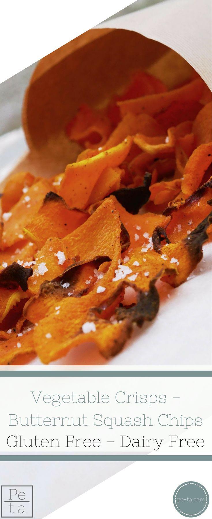 Butternut Squash Chips - Vegetable Crisps - Free From Dairy, Gluten & Refined Sugar