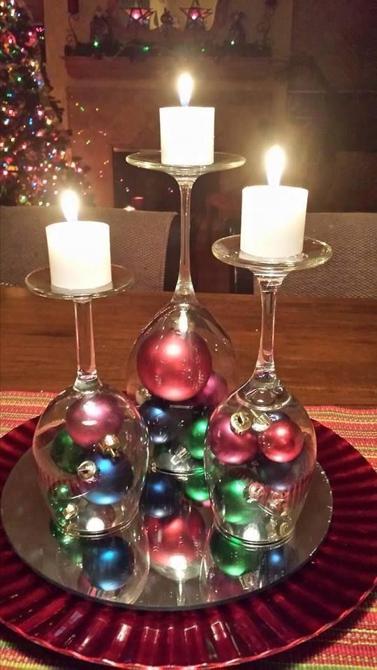 adorno de copas con esferas