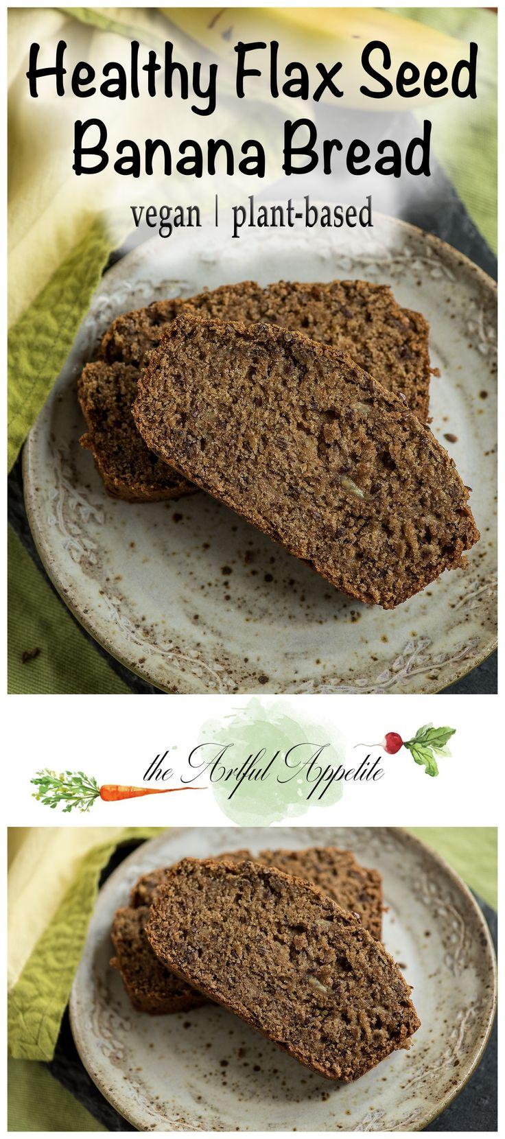 Healthy Vegan Flax Seed Banana Bread