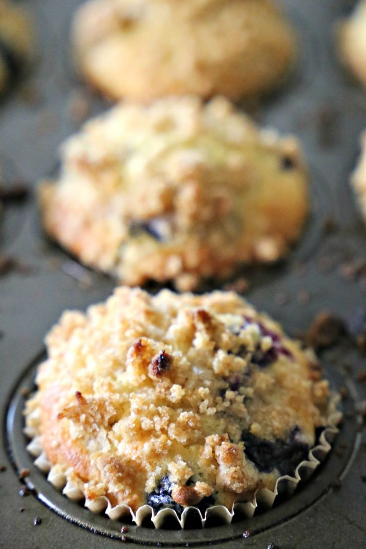Blueberry muffins are my favorite type of muffin, especially when they are bakery style. The sweet crumbly topping is the pièce de résistance for me. A few years ago I found a recipe online and it was love at first batch. Okay – I know I am not good at making up funny lines, but it was...