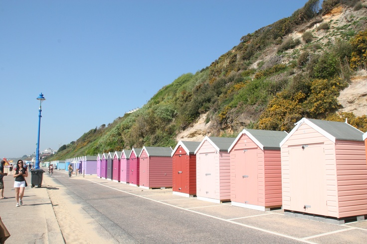 beach huts, Bournemouth, UK