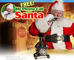 FREE Personalized Phone Call and Video Messages From Santa on http://hunt4freebies.com