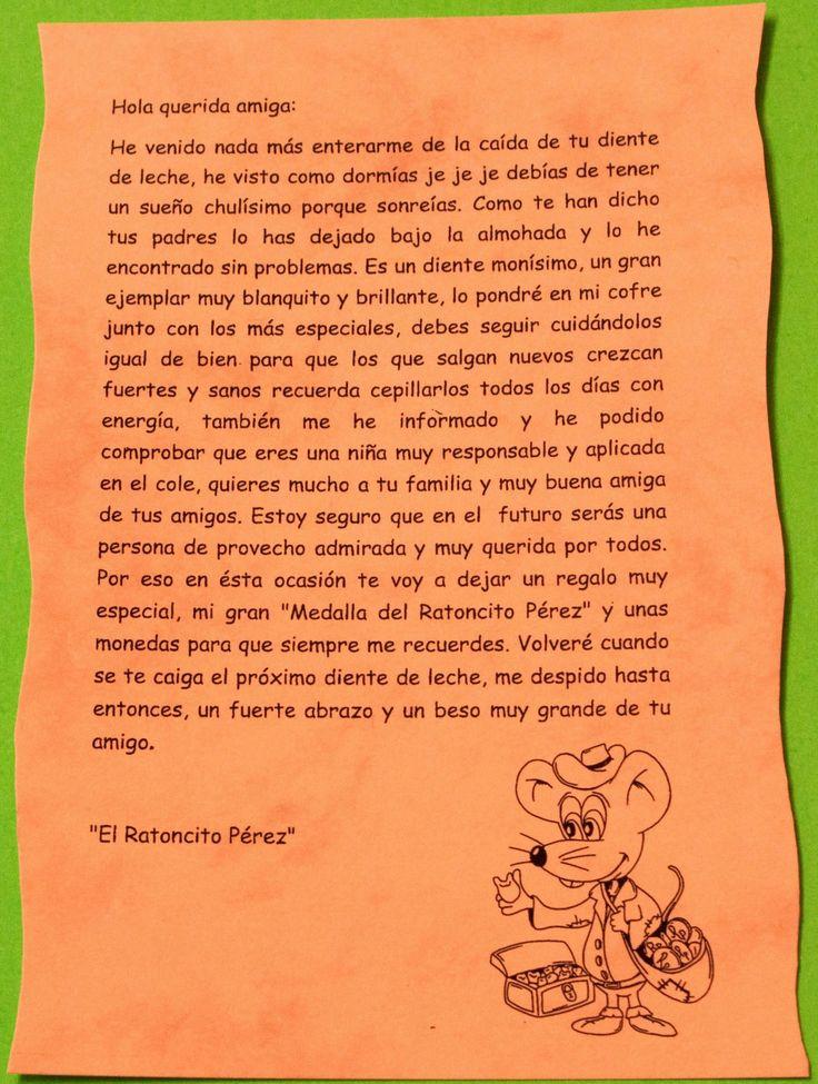 carta del ratoncito pérez