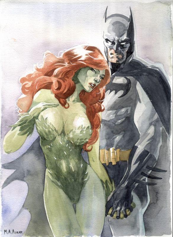 Batman & Poison Ivy by Mahmud Asrar Comic Art