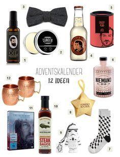 Adventskalender Ideen für den Freund / kleine Geschenke für Männer