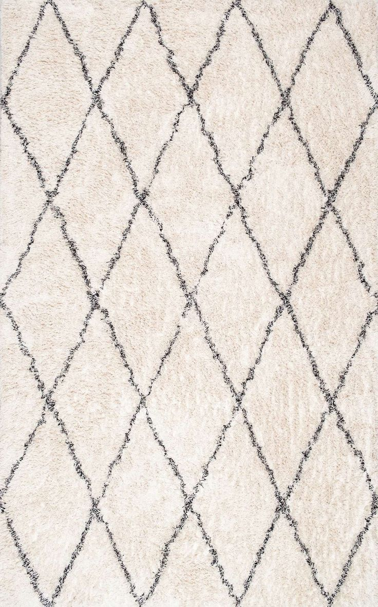 Husky ShagEK01 Cotton Diamond Trellis Rug