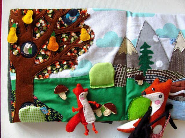 www.polandhandmade #polandhandmade #agatownik #toys #fox  #quietbook