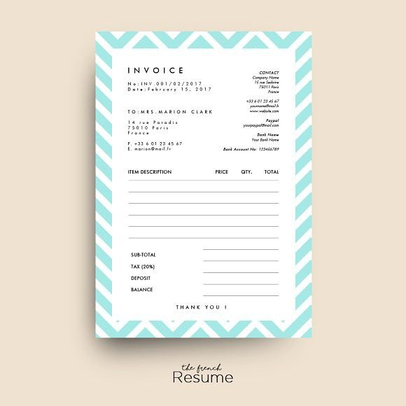 Invoice / Receipt Template for Word #invoice #receipt