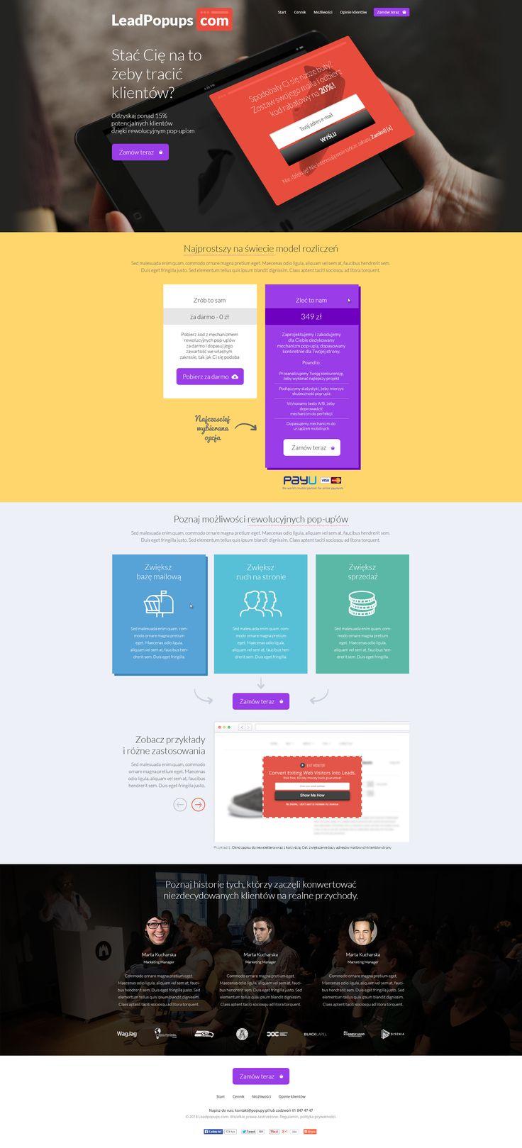 Lead Popups Webdesign #webdesign #web #design #piotr #wolniewicz #portfolio #inspiration #art #direction #landing #page #corporate