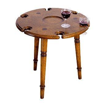 Игровой стол с выемками для декантера и 6 бокалов Tudor Oak 42 120 руб. WOODRIGHT