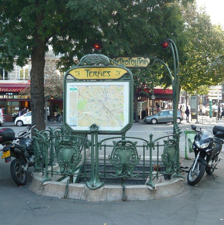 Paris, Métropolitain, Entrée de la station Ternes, arch. Hector Guimard
