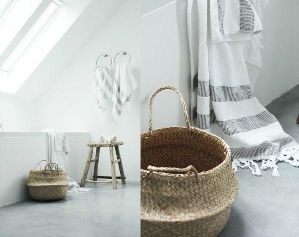 badkamer natuurlijke materialen