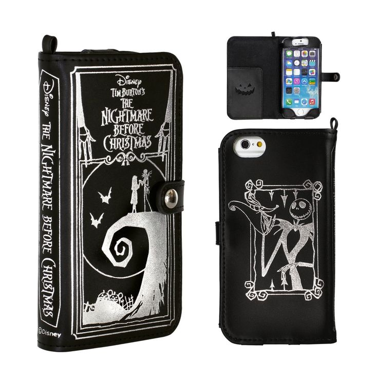 Amazon.com: Golden Berg 19-829295 Nightmare Before Christmas Split Leather Case for iPhone6 - Black: Home & Kitchen