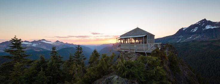 Park Butte fire lookout on Mount Baker, Washington