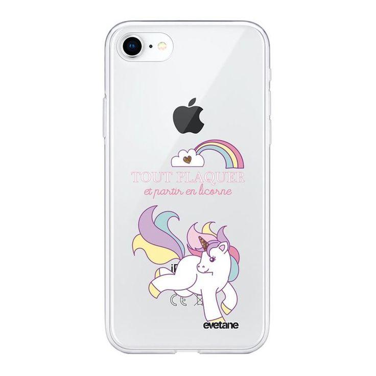 Coque Souple Iphone 7 Iphone 8 Souple Transparente Partir En Licorne Motif Ecrit…