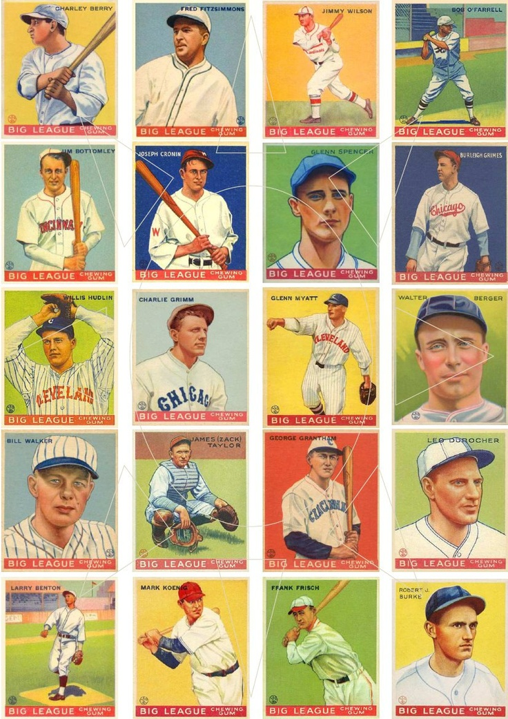 vintage baseball cards images
