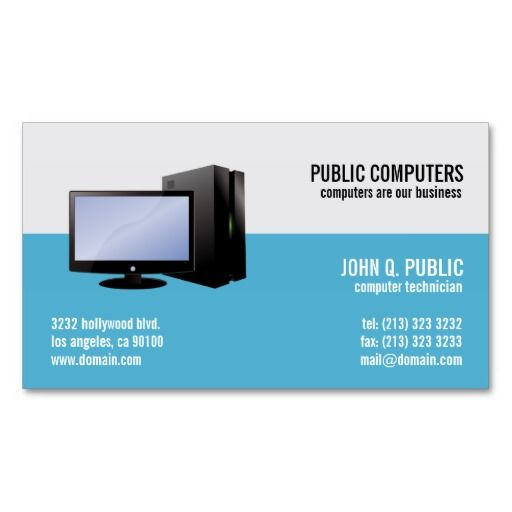 Best 290 computer theme business card templates ideas on pinterest computer networks business card accmission Image collections