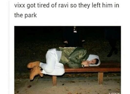 Aww poor Ravi<<lol I can actually see VIXX doing this