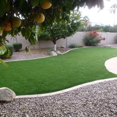 how to fix artificial grass down
