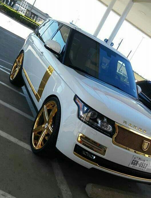 Range Rover dipped in gold
