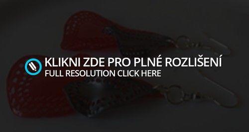 Naušnice - Kapky - Červené   Shark Šperky z Eko Plastu