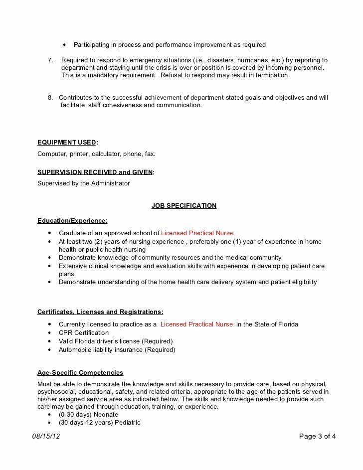 20 Home Health Nurse Job Description Resume In 2020 Nurse Job