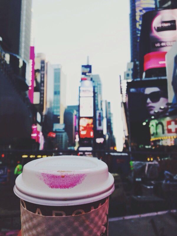 Times Square lipstick stain photo