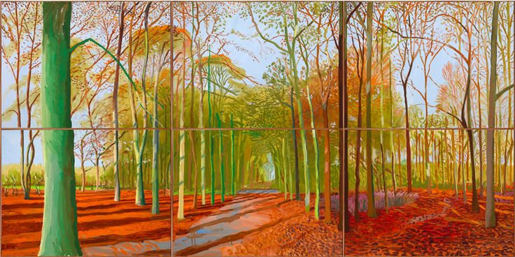 David Hockney: Woldgate woods November 2006.   Described by some as childlike and repetitive, I went to see the Hockney exhibition at the RA - I thought it was inspirational and full of optimism (which in our austere times of cutbacks was gratefully received)