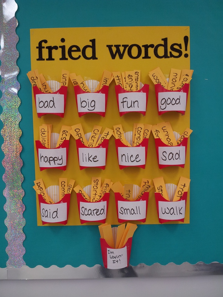 fried word wall part of my interactive word wall for my