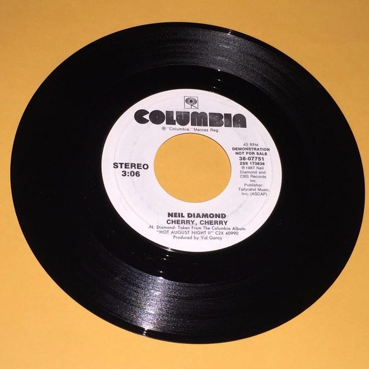 "Neil Diamond Cherry Cherry  45 rpm Promo Record Ex Vinyl 7"""