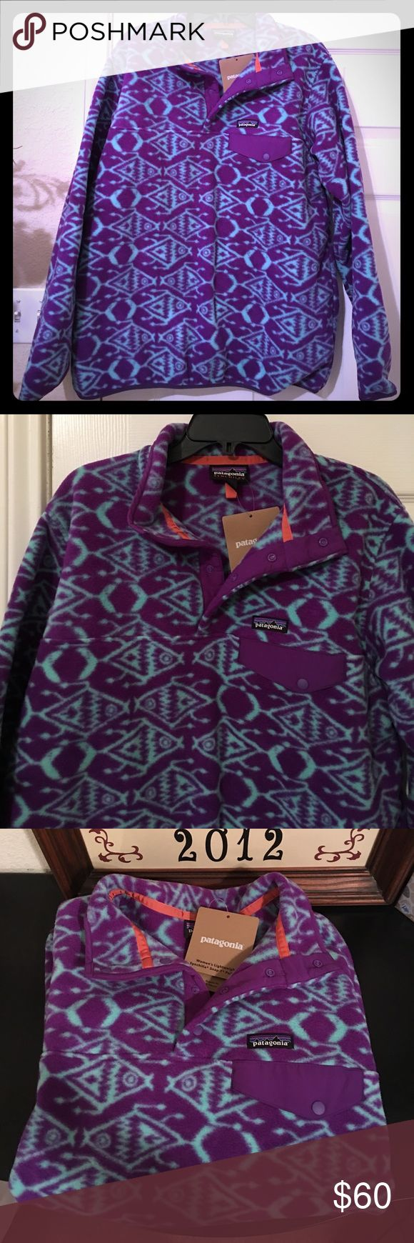 NWT Patagonia Sweater Beautiful women's Synchilla snapT Pullover Patagonia Sweaters V-Necks