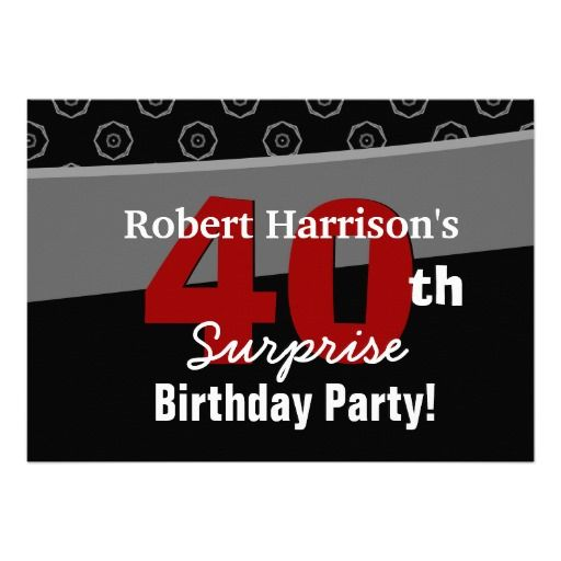 58 best Kevins Surprise Party images – Personalized 40th Birthday Invitations