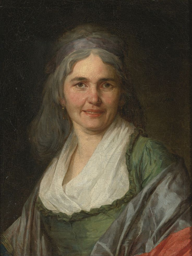 https://flic.kr/p/p4d6in | Trinquesse, Louis Rolland (attributed) - PORTRAIT OF A WOMAN, BUST-LENGTH, WEARING A GREEN DRESS AND A RED-AND-GREY SHAWL DRAPED AROUND HER SHOULDERS