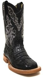 Anderson Bean kids cowboy boots in black {real Caiman boots} from South Texas Tack.