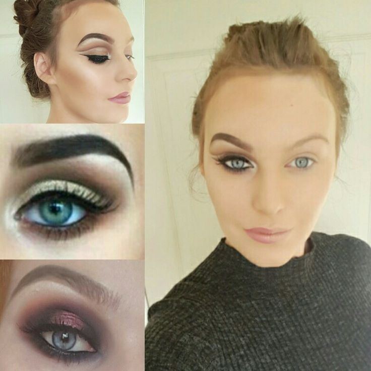 Up close eye looks i have created recently and also a picture to show how makeup actually changes you #makeup#makeuladdict #cutcrease #mac #urbandecay # smokeyeye #browgoals #contour #goldeye # makeupgeek