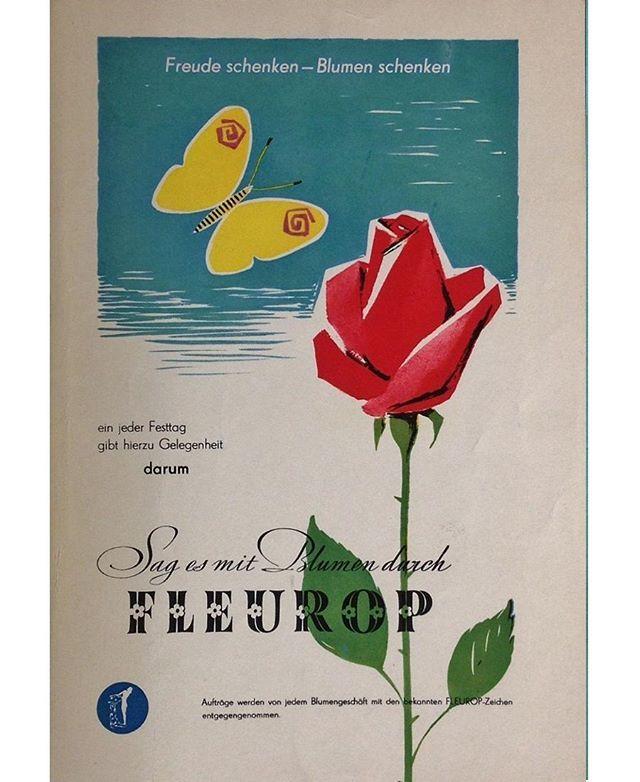 #Fleurop #Blumen #Flowers #Geschenk #Blumenstrauß #DDR #Werbung #Reklame #Ostalgie #EastGermany #Vintage #Commercial #Advertising
