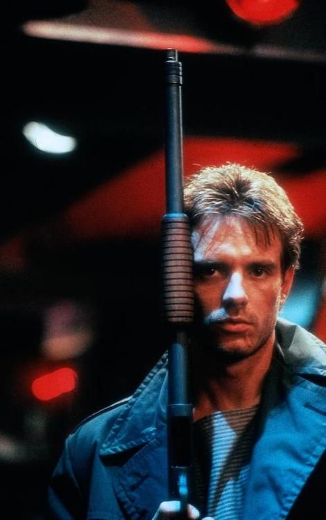 Michael Biehn as Kyle Reese in The Terminator (James Cameron, 1984)