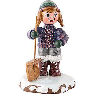 Winterkinder Schneefeger (6cm) von Hubrig Volkskunst