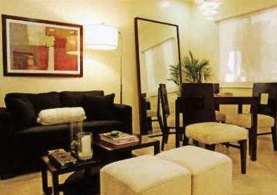East Raya Gardens - 2-Bedroom Unit Living Room and Dining Area #condo #manila #realEstate www.mymanilacondo.com/